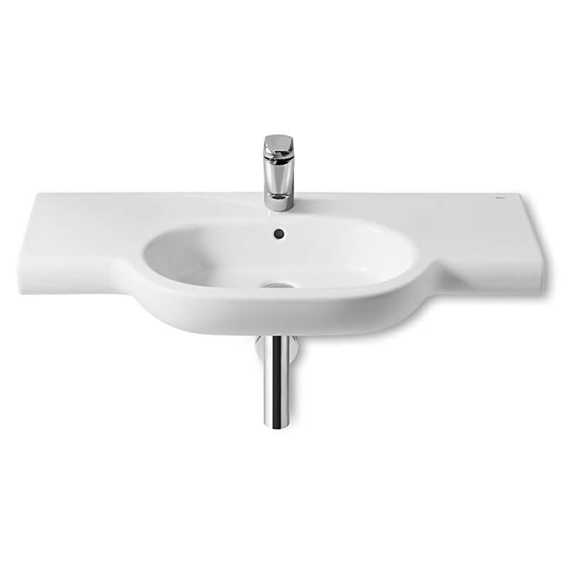 Roca Meridian-N Basin and Full Pedestal, 1000mm Wide, 1 Tap Hole