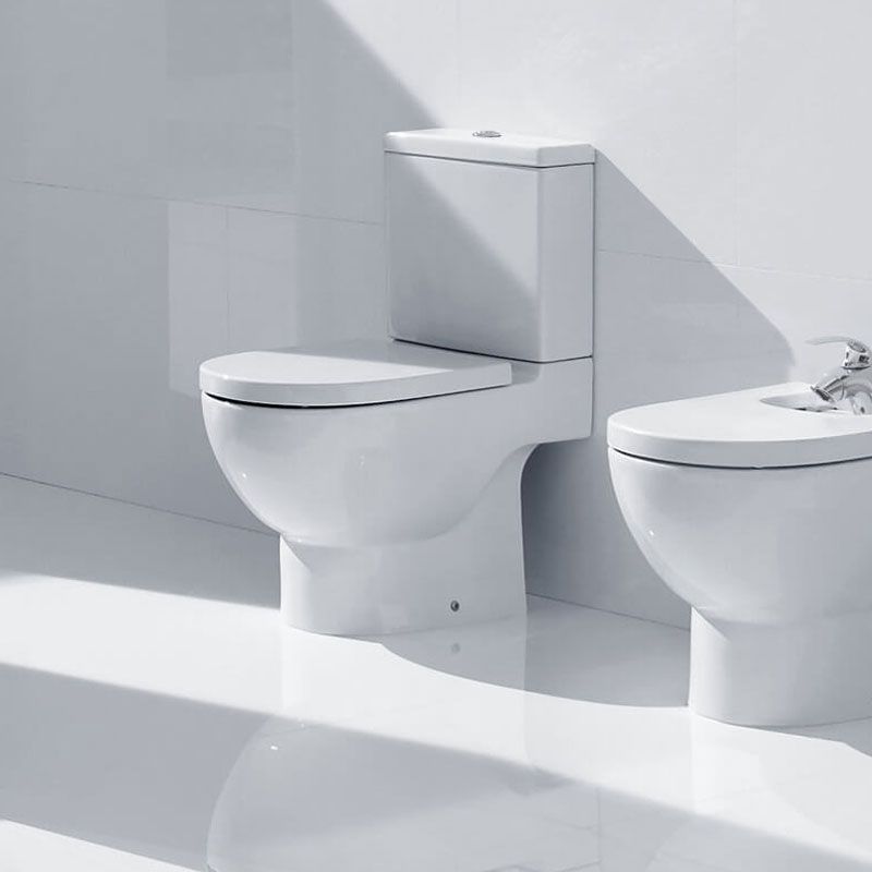 Roca Meridian-N Eco Close Coupled Toilet with Dual Outlet Push Button Cistern, Soft Close Seat-2