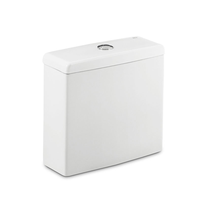 Roca Meridian-N Compact Close Coupled Toilet with Dual Outlet Push Button Cistern, Soft Close Seat-0