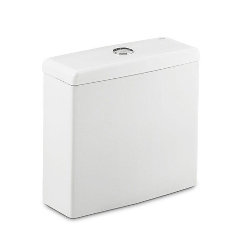 Roca Meridian-N Eco Close Coupled Toilet with Dual Outlet Push Button Cistern, Standard Seat