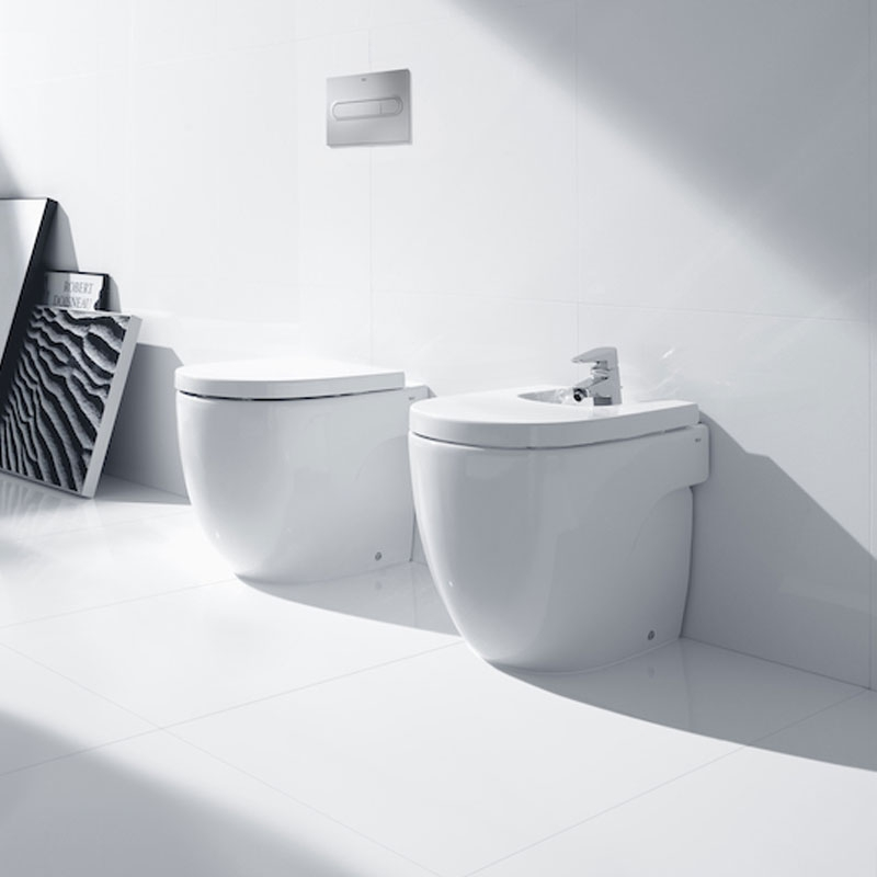 Roca Meridian-N Back to Wall Toilet, 520mm Projection, Standard Seat-1