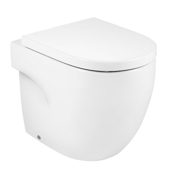 Roca Meridian-N Back to Wall Toilet, 520mm Projection, Standard Seat-2