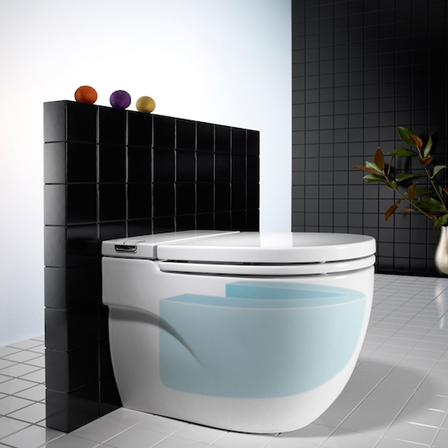 Roca meridian n toilet 893303000 back to wall white for Wc roca meridian