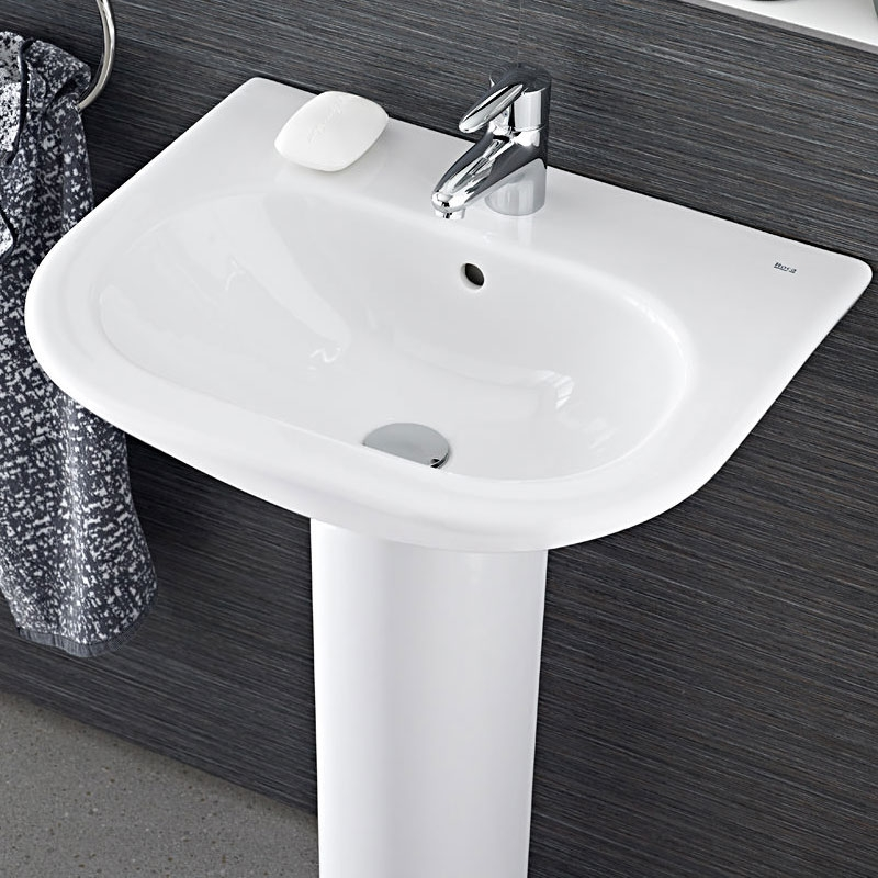 Roca Nexo Basin & Full Pedestal 680mm Wide 1 Tap Hole