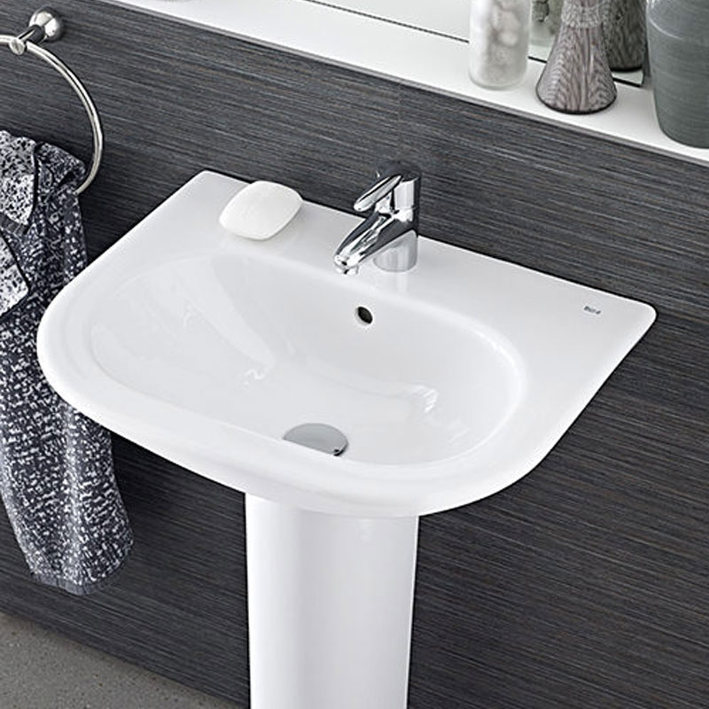 Roca Nexo Basin & Semi Pedestal 550mm Wide 1 Tap Hole