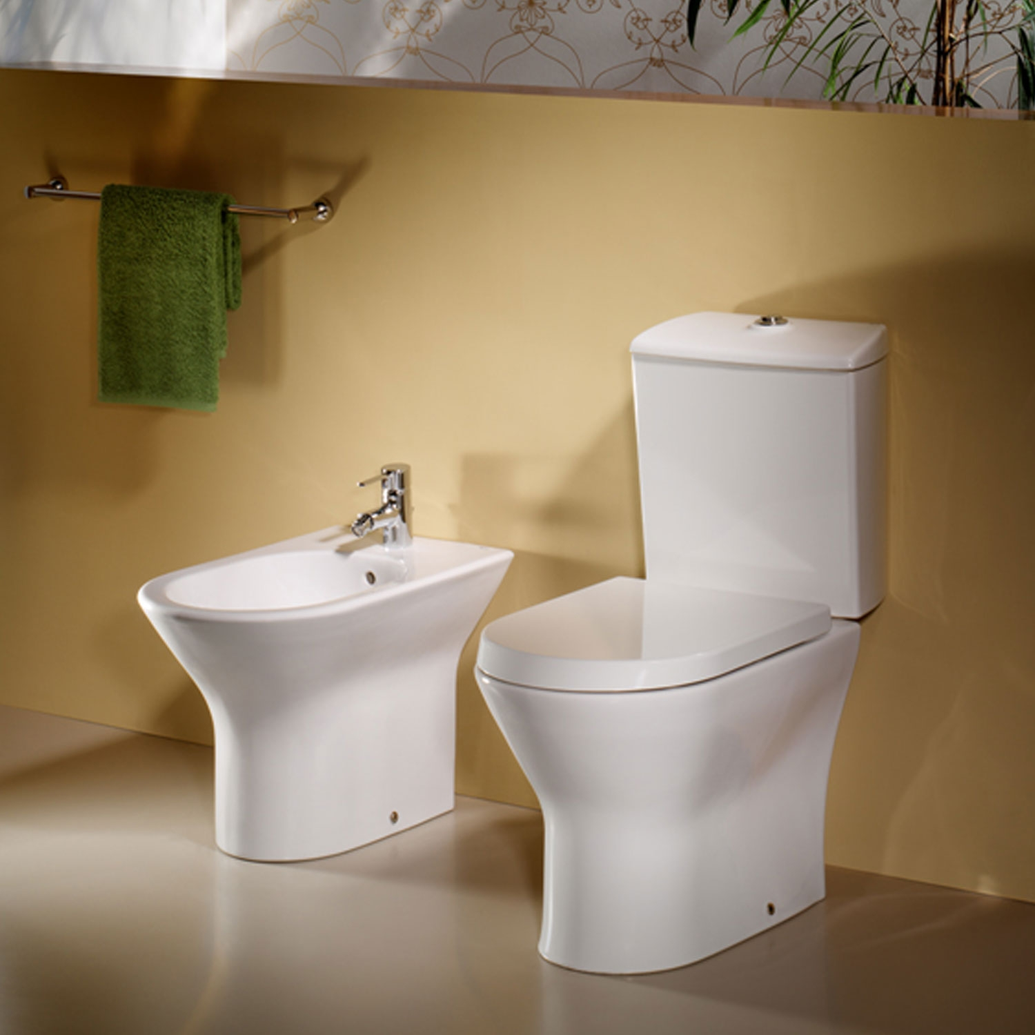 Roca Nexo Compact Closed Coupled Toilet WC Push Button Cistern - Standard Seat-1