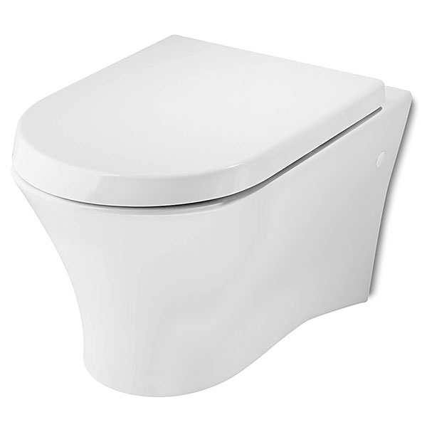 Roca Nexo Wall Hung Toilet WC 535mm Projection - Soft Close Seat-0