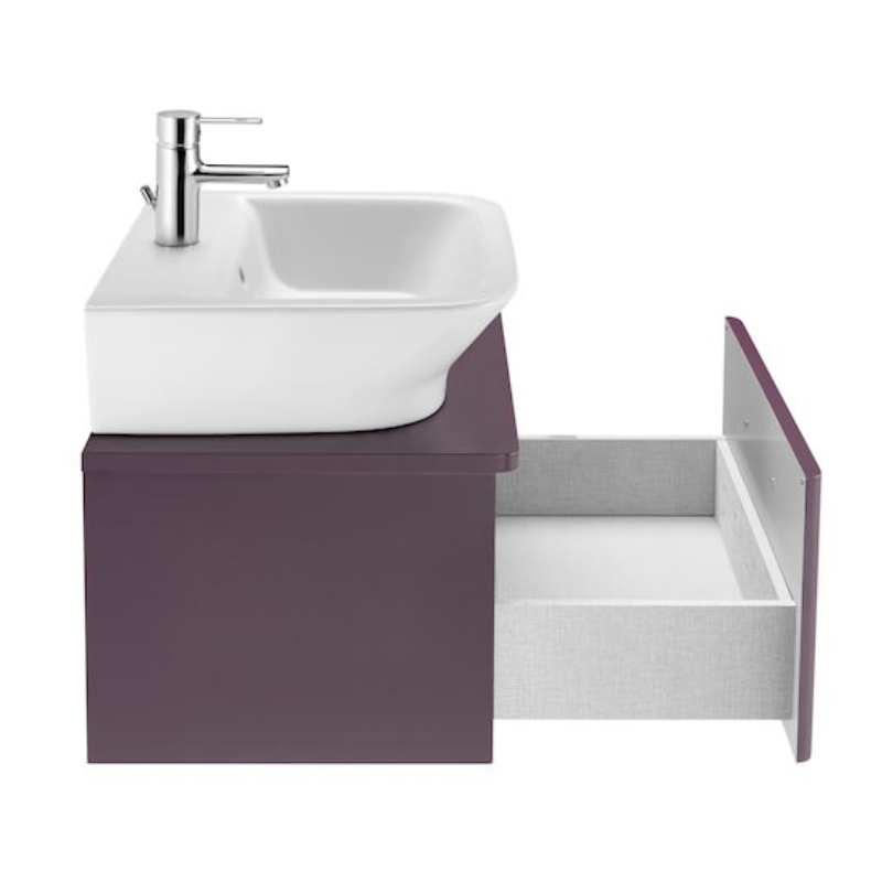 Roca The Gap 1-Drawer Bathroom Vanity Unit with Basin 450mm W - Matt Grape