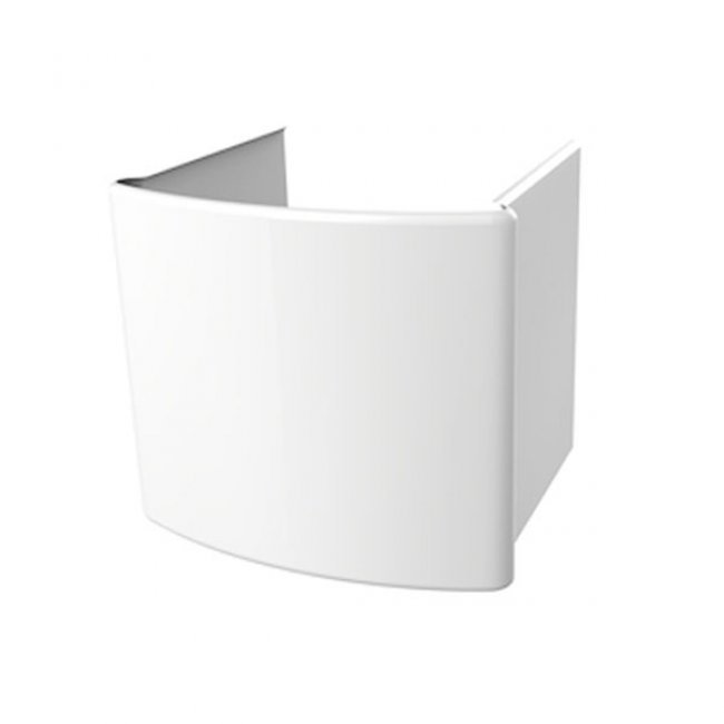 Roca Senso Basin and Semi Pedestal, 650mm Wide, 1 Tap Hole