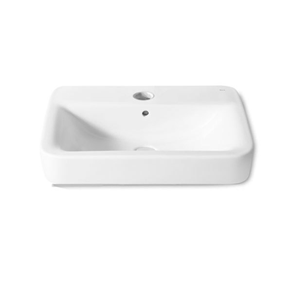 Roca Senso Square Wall Hung Basin, 600mm Wide, 1 Tap Hole