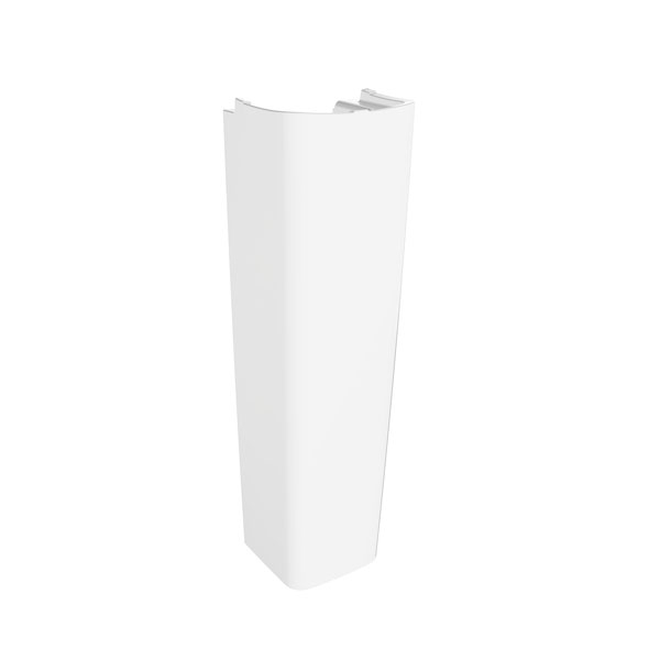 Roca Senso Square Basin and Full Pedestal, 600mm Wide, 1 Tap Hole