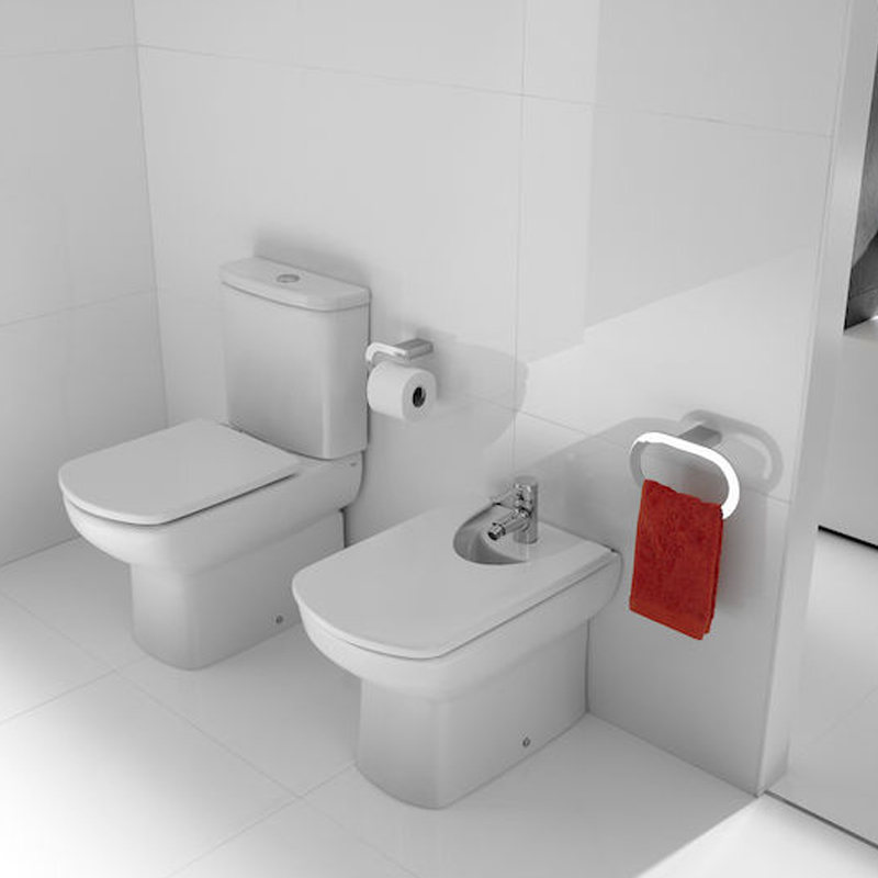 Roca Senso Close Coupled Toilet with Dual Outlet Push Button Cistern, Standard Seat-2