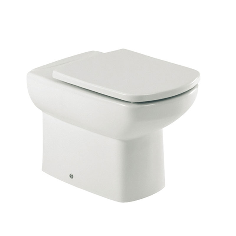 Roca Senso Close Coupled Toilet with Dual Outlet Push Button Cistern, Standard Seat-0