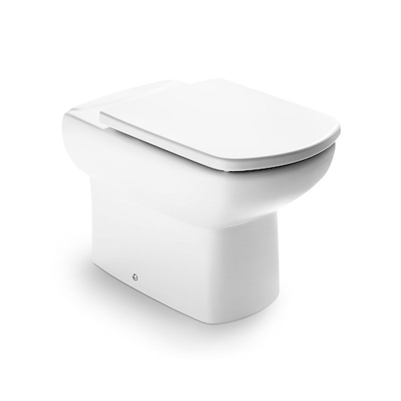 Roca Senso Compact Eco Close Coupled Toilet with Dual Outlet Push Button Cistern, Soft Close Seat