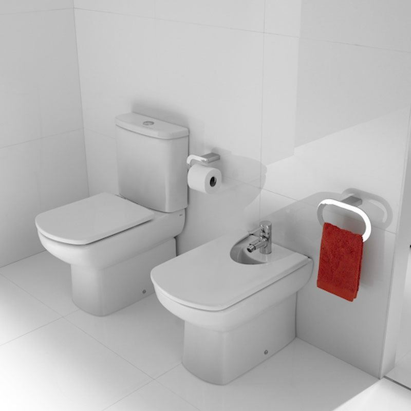 Roca Senso Compact Eco Close Coupled Toilet with Dual Outlet Push Button Cistern, Soft Close Seat-3
