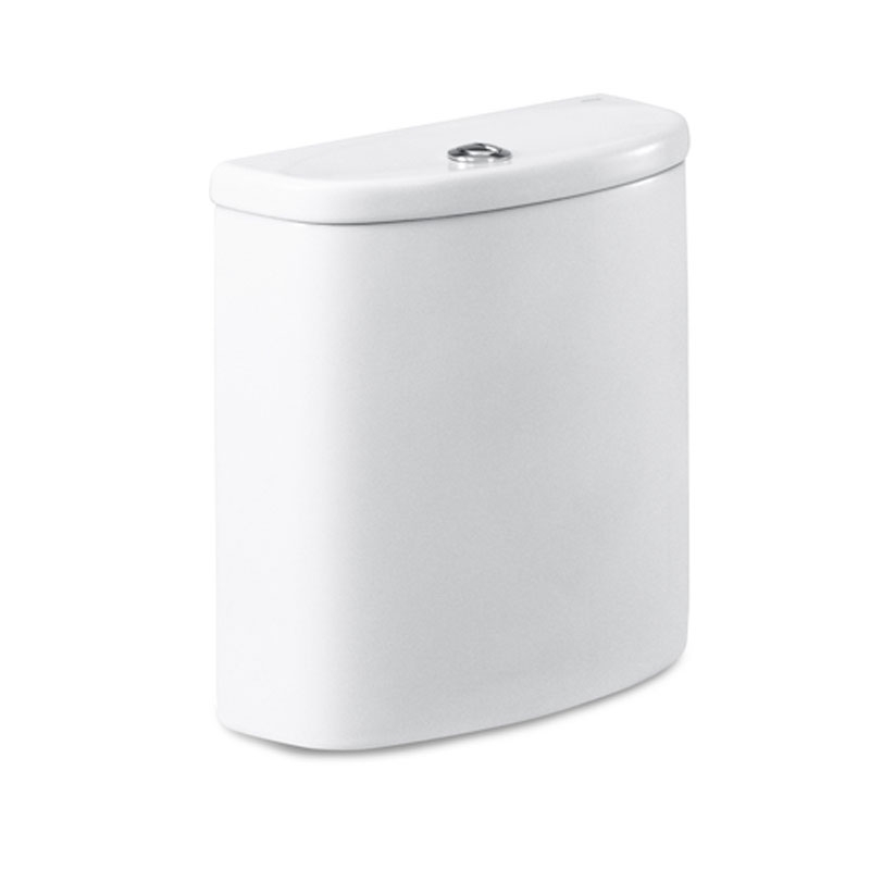 Roca Senso Close Coupled Toilet with Dual Outlet Push Button Cistern, Soft Close Seat