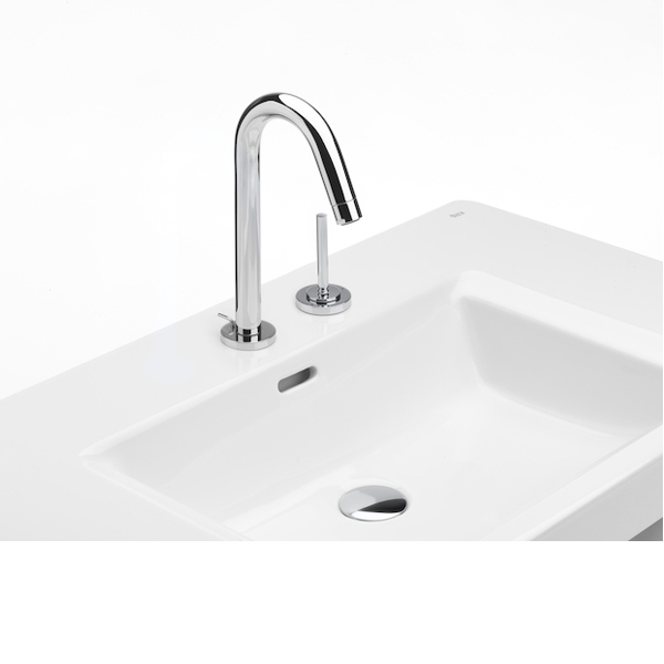 Roca Singles Pro Joystick Operated Basin Mixer Tap with Pop-up Waste - Chrome-0