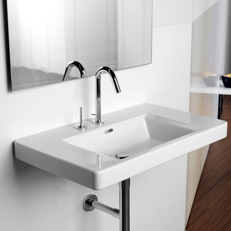 Roca Singles Pro Joystick Operated Basin Mixer Tap with Pop-up Waste - Chrome