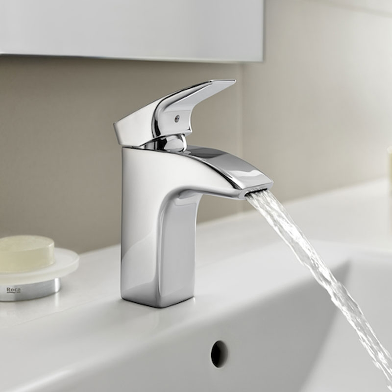 Roca Thesis Basin Mixer Tap with Pop-up Waste - Chrome