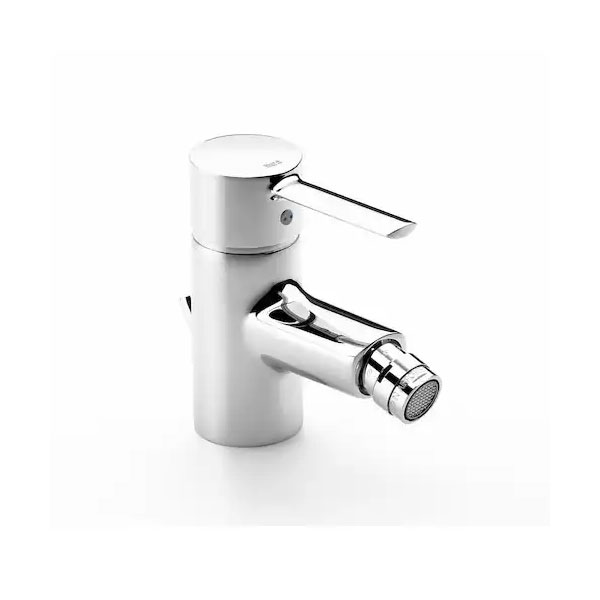 Roca Targa Bidet Mixer Tap with Pop-up Waste - Chrome