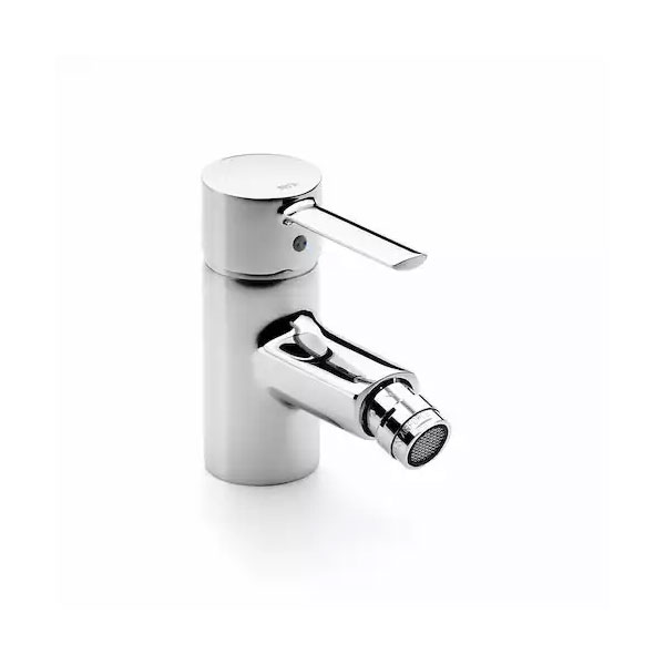 Roca Targa Bidet Mixer Tap with Retractable Chain - Chrome