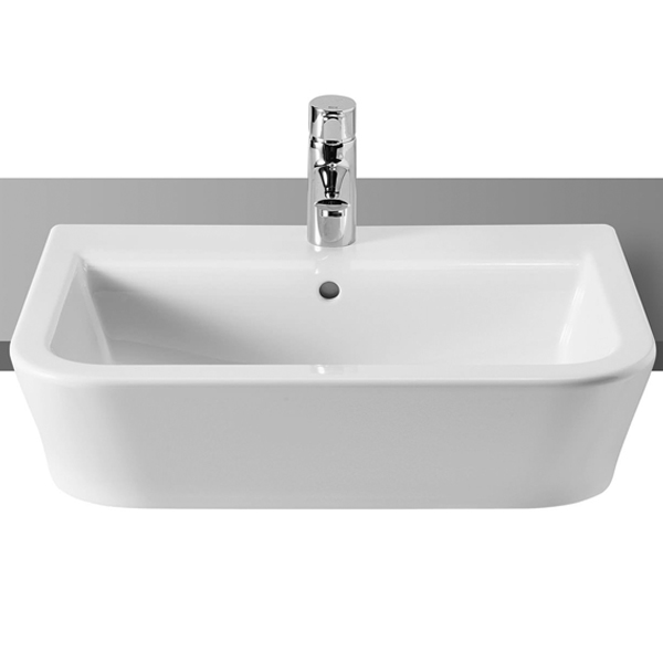 Roca The Gap Semi-Recessed Basin, 560mm Wide, 1 Tap Hole