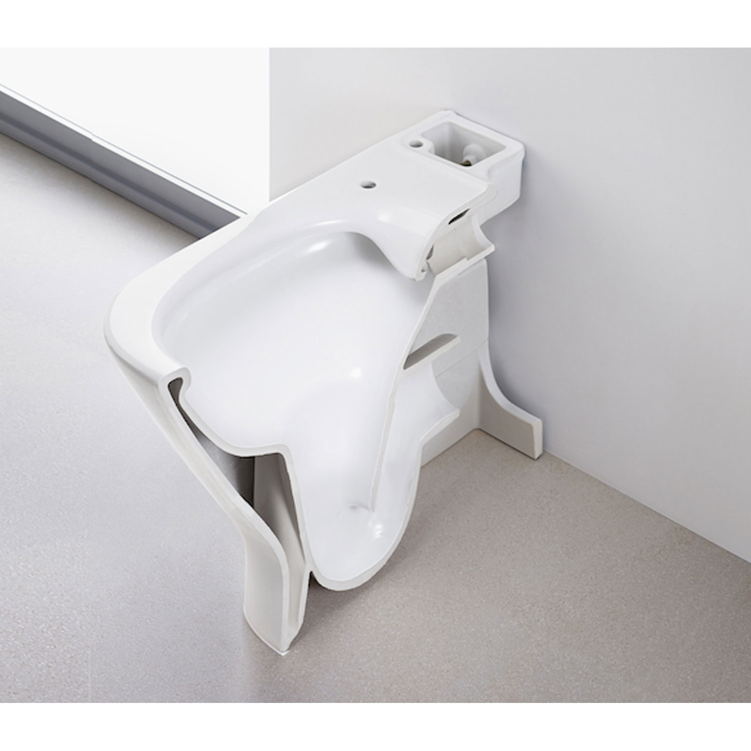 Roca The Gap Cleanrim Close Coupled Toilet with Dual Outlet Push Button Cistern, Soft Close Seat-2