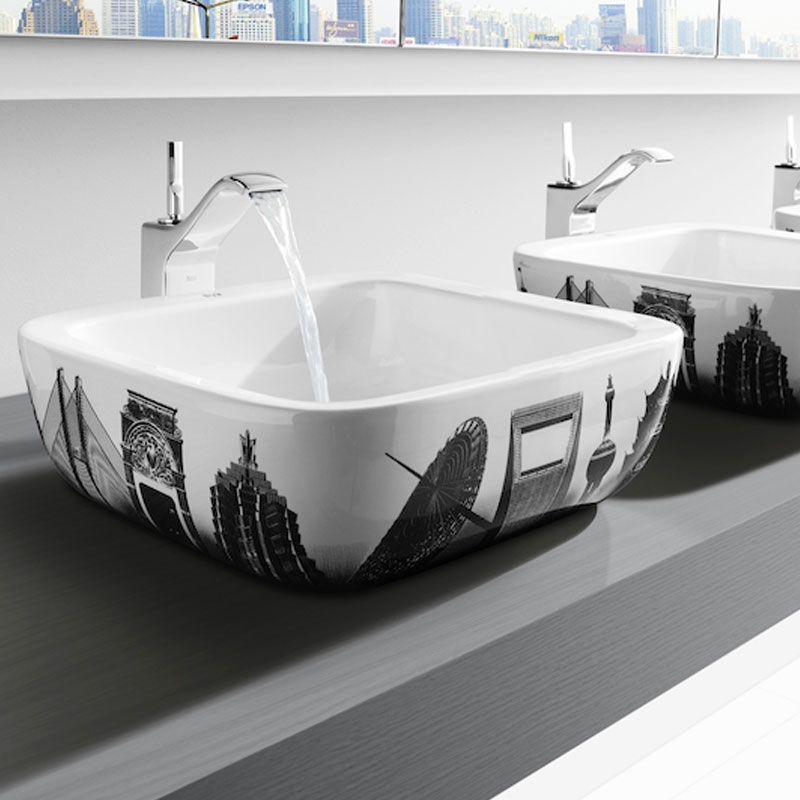 Roca Urban Shanghai Sit On Countertop Basin 400mm W - 0 Tap Hole