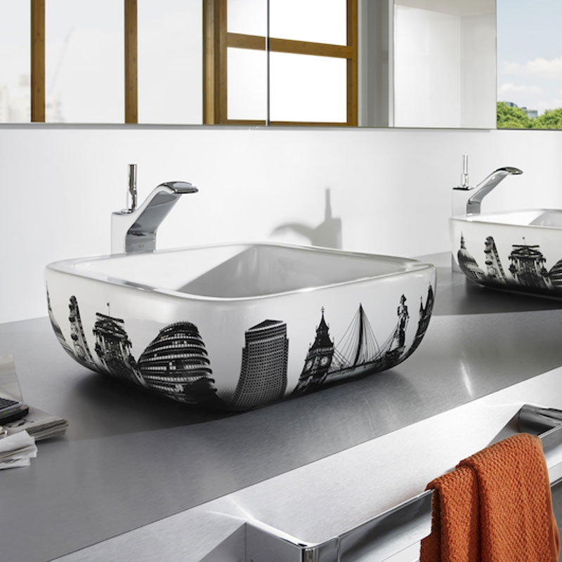 Roca Urban London Sit On Countertop Basin 400mm W - 0 Tap Hole