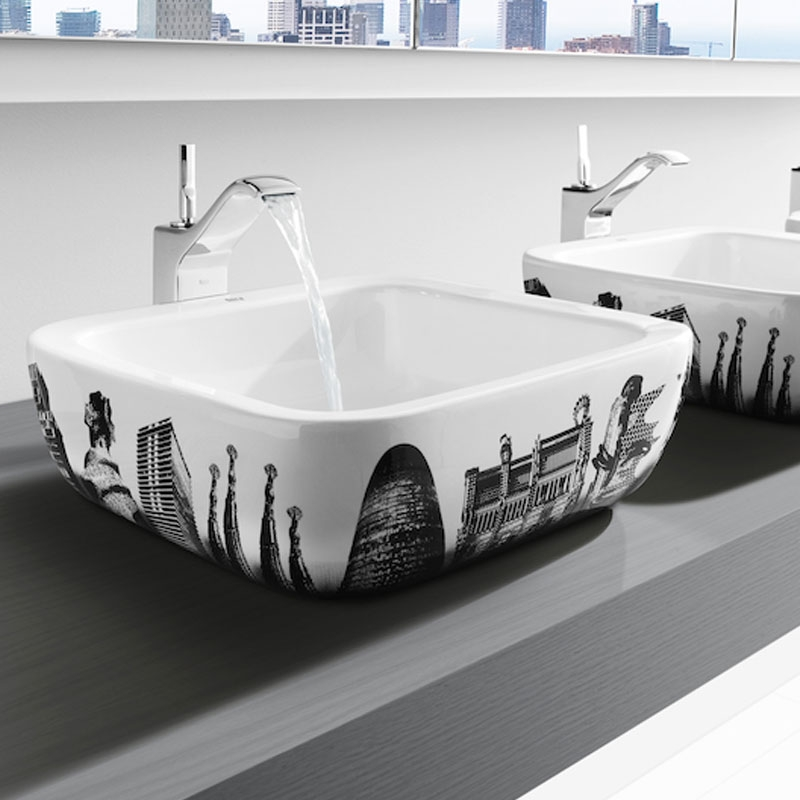 Roca Urban Barcelona Sit On Countertop Basin 400mm W - 0 Tap Hole