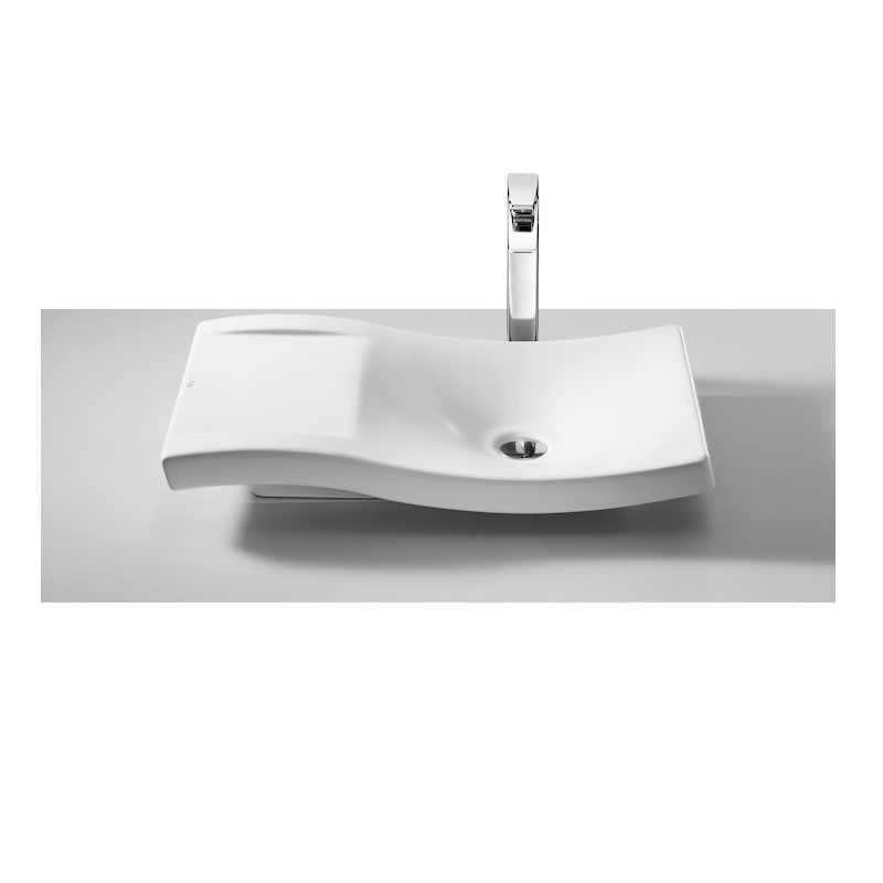Roca Urbi 2 Sit On Countertop Basin 660mm W - 0 Tap Hole