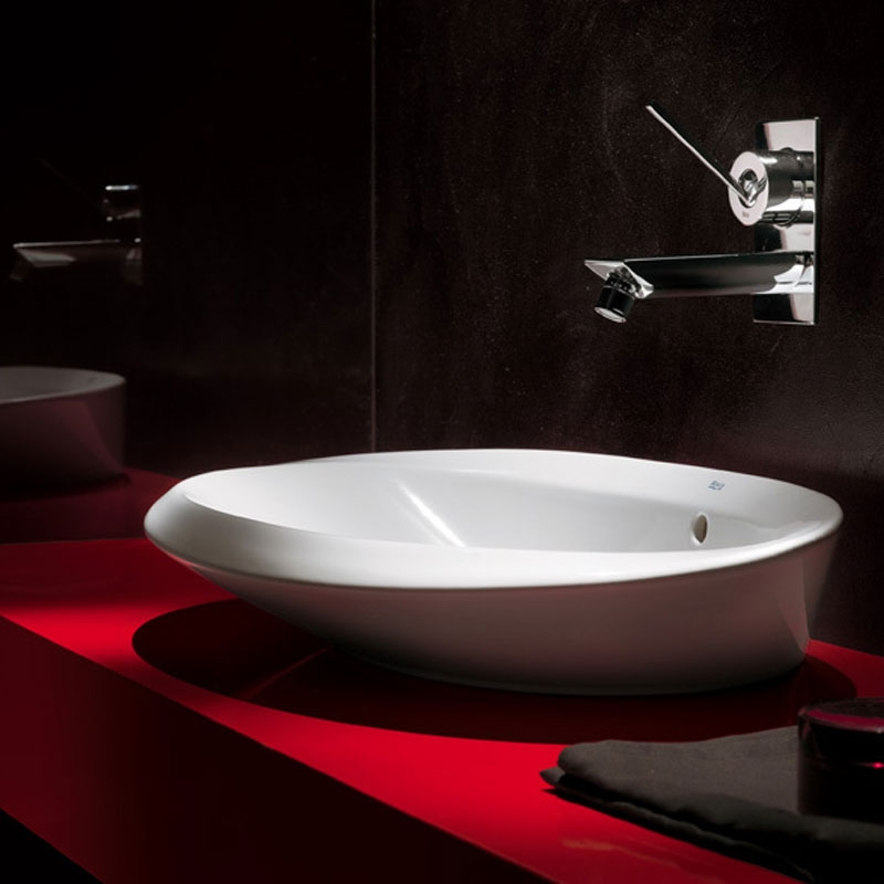 Roca Urbi 6 Sit On Countertop Basin 640mm W - 0 Tap Hole
