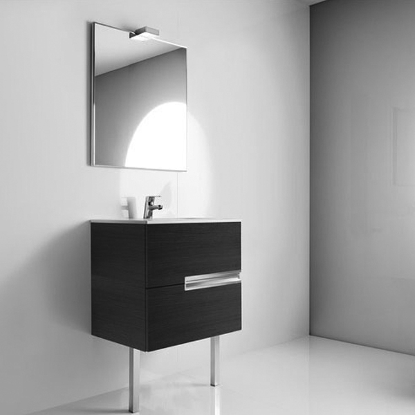 Roca Victoria-N Bathroom Mirror 1000mm W Textured Wenge-0