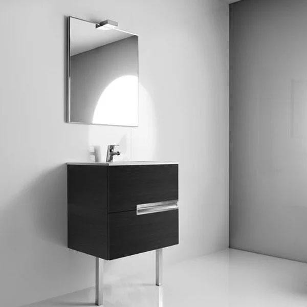 Roca Victoria-N Bathroom Mirror 700mm W Textured Oak