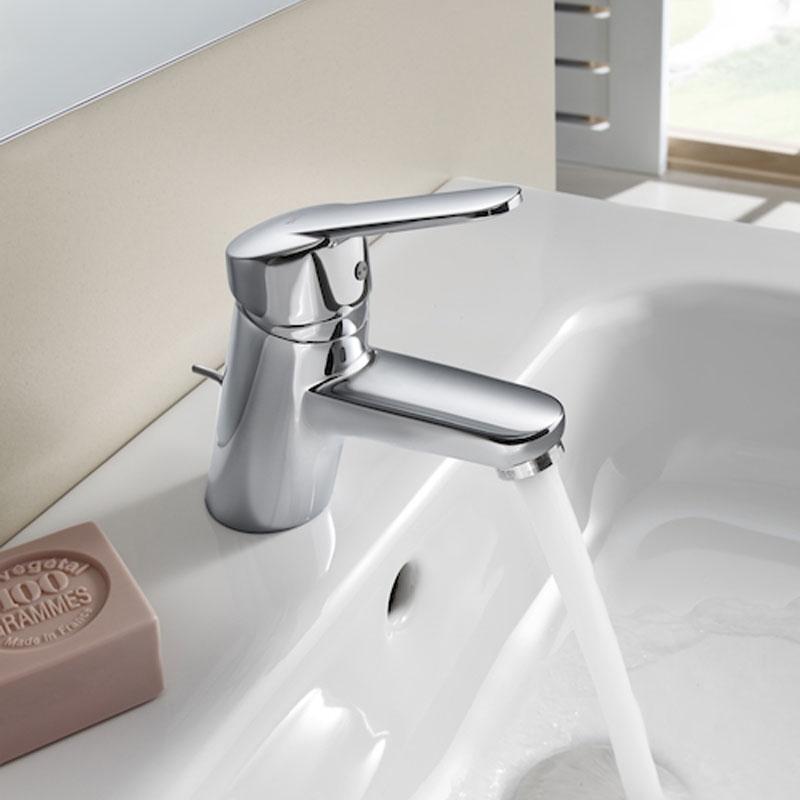 Roca Victoria Basin Mixer Tap with Pop-up Waste - Chrome