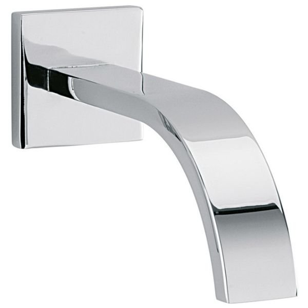 Sagittarius Arke Wall Mounted Bath Spout and Square Cover Plate 180mm