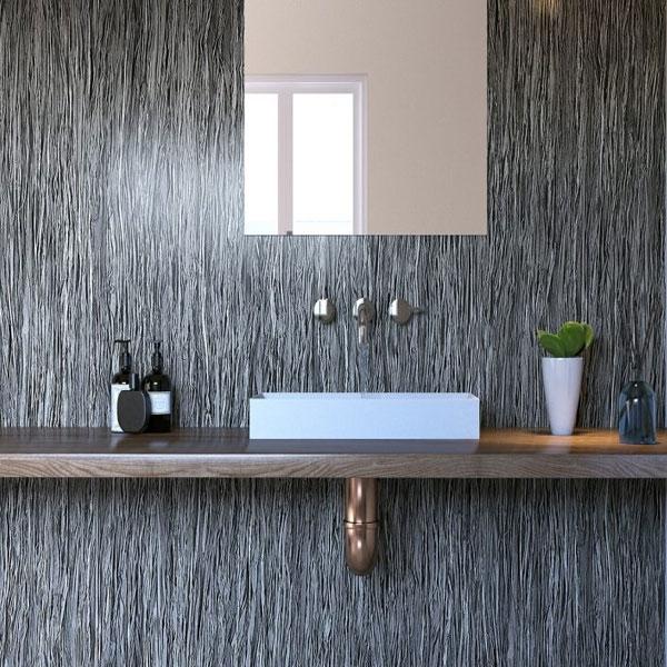 Showerwall Straight Edge Infinity Waterproof Shower Panel 1200mm Wide x 2440mm High - Lineal Smoke-0