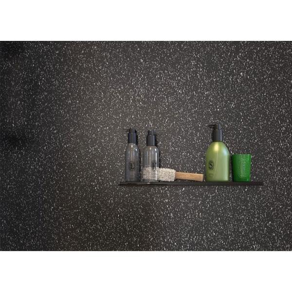 Showerwall Straight Edge Waterproof Shower Panel 1000mm Wide x 2440mm High - Black Galaxy-0