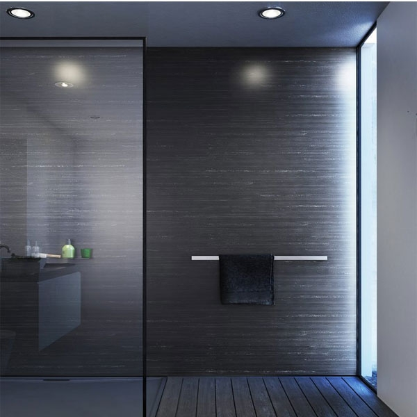 Showerwall Straight Edge Waterproof Shower Panel 1000mm Wide x 2440mm High - Black Glacial-0