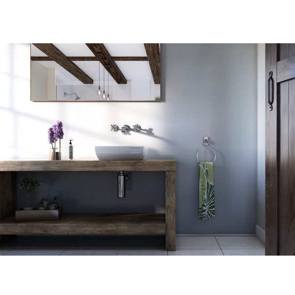 Showerwall Straight Edge Waterproof Shower Panel 1000mm Wide x 2440mm High - Linea White-0
