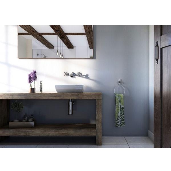 Showerwall Straight Edge Waterproof Shower Panel 1200mm Wide x 2440mm High - Linea White-0