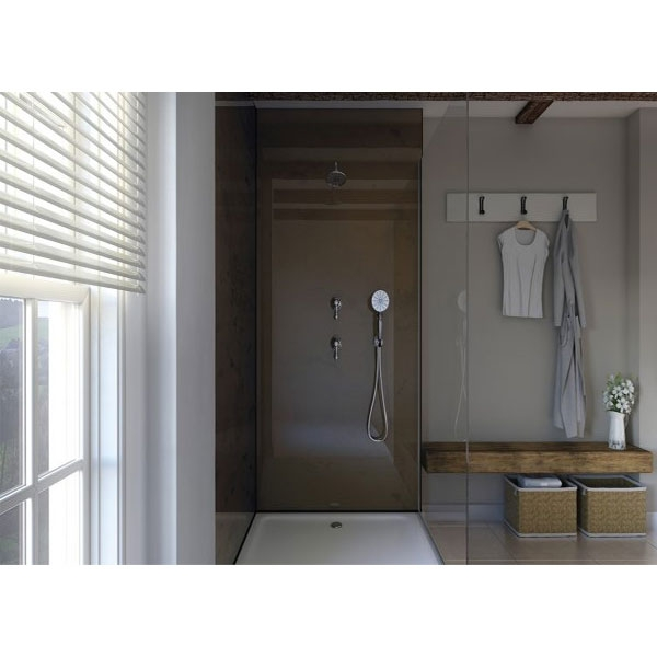 Showerwall Straight Edge Waterproof Shower Panel 1000mm Wide x 2440mm High - Oxidised Copper-0
