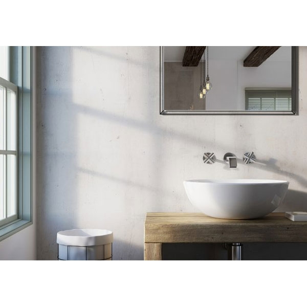 Showerwall Straight Edge Waterproof Shower Panel 900mm Wide x 2440mm High - Urban Concrete-0