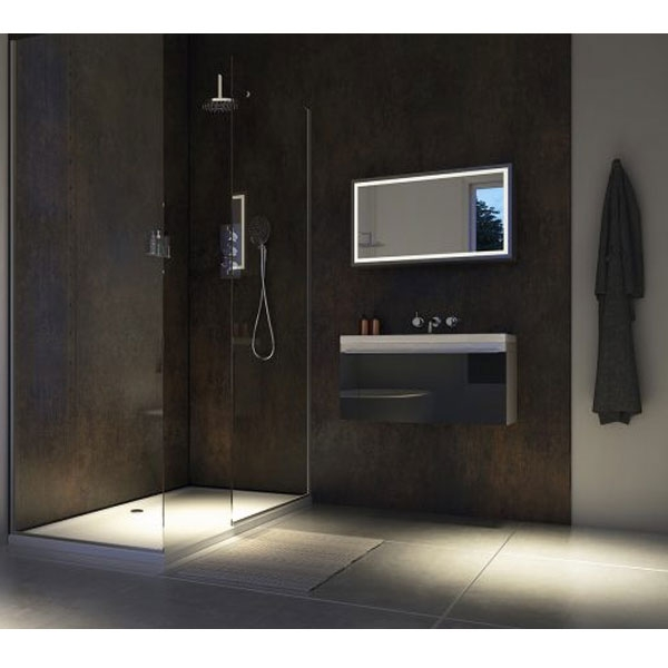 Showerwall Straight Edge Waterproof Shower Panel 900mm Wide x 2440mm High - Urban Gloss-0