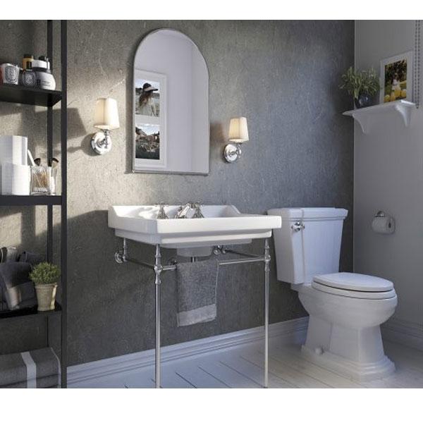 Showerwall Straight Edge Waterproof Shower Panel 1000mm Wide x 2440mm High - Zamora Marble-0
