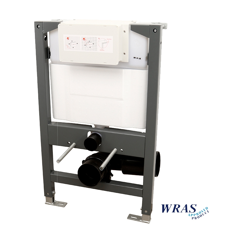 Signature Essentials Wall Mounted 820mm WC Frame with Dual Flush Cistern