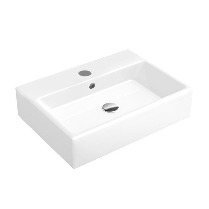 Signature Pure Wall Hung Basin 500mm Wide - 1 Tap Hole