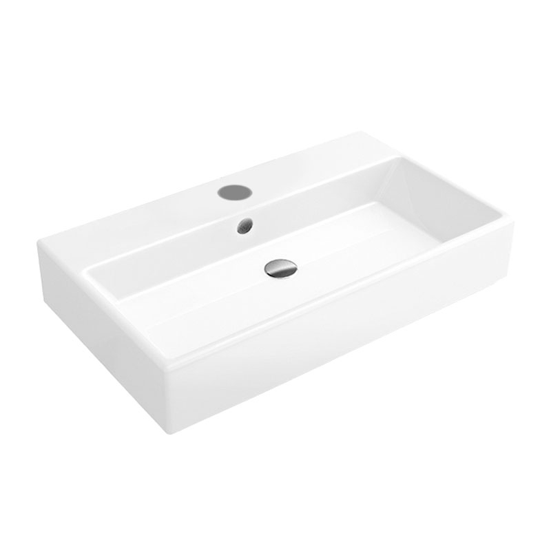 Signature Pure Wall Hung Basin 800mm Wide - 1 Tap Hole