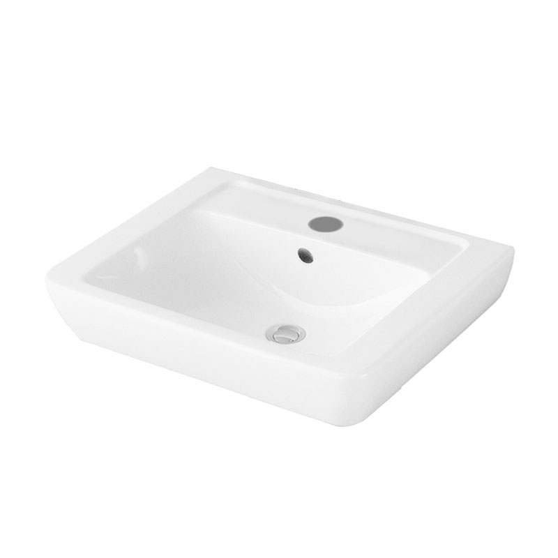 Signature Simple Wall Hung Basin 600mm - White