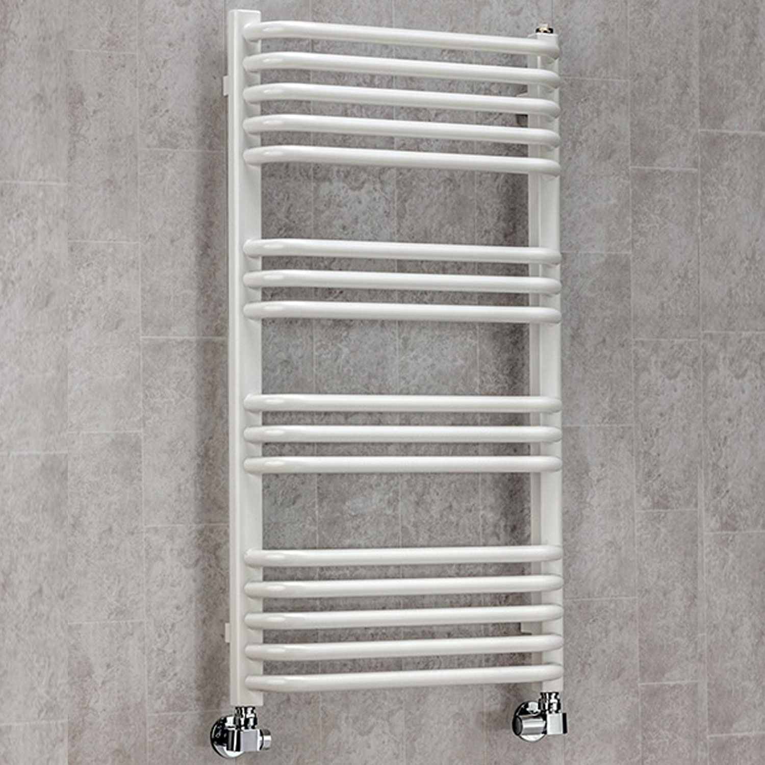 S4H Apsley Heated Towel Rail 620mm H x 600mm W - White